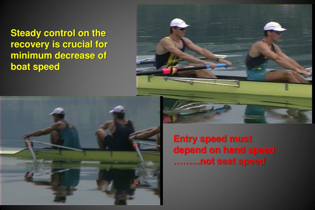 Steady control on the recovery is crucial for minimum decrease of boat speed