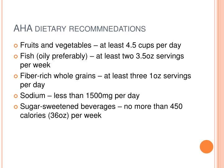 AHA dietary