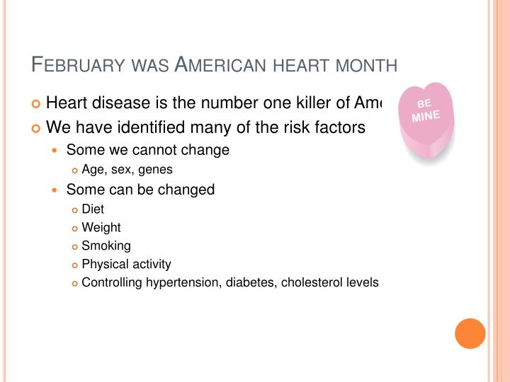 February was american heart month