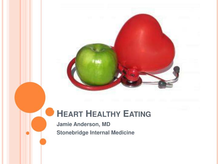 Heart healthy eating