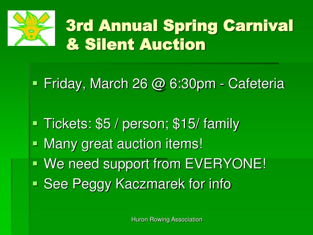3rd Annual Spring Carnival & Silent Auction