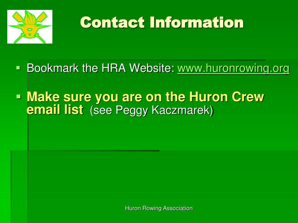 Huron Rowing Association
