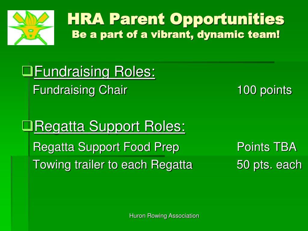 HRA Parent Opportunities
