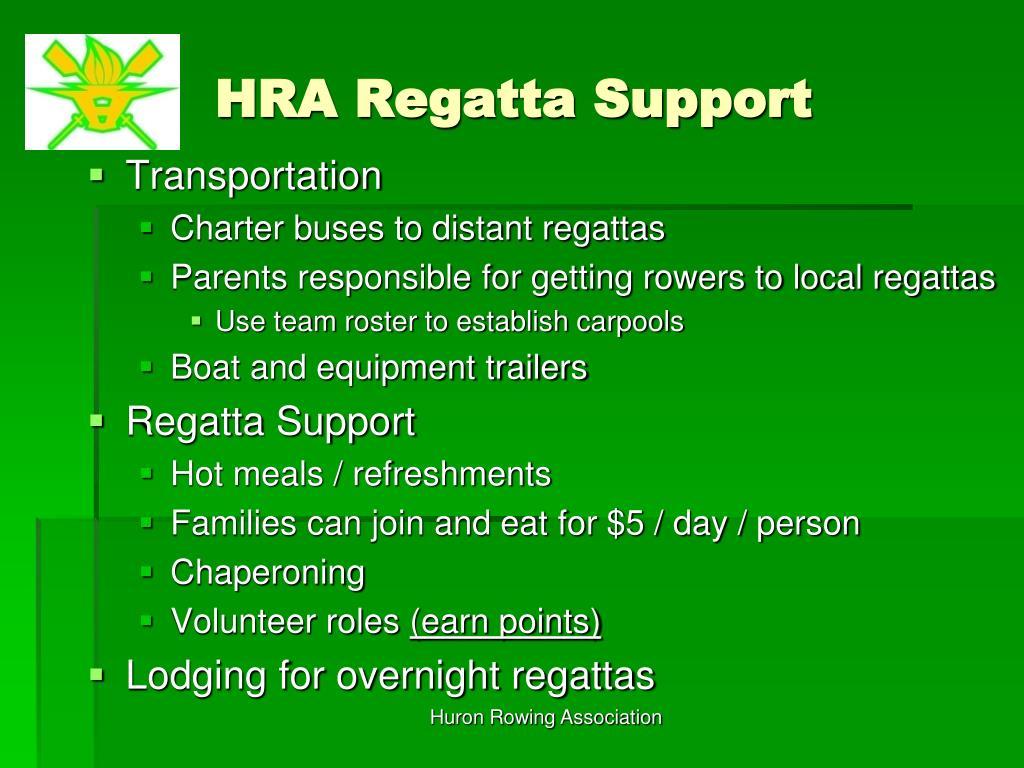 HRA Regatta Support