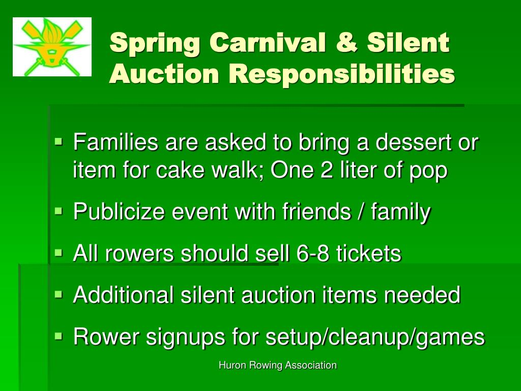 Spring Carnival & Silent Auction Responsibilities