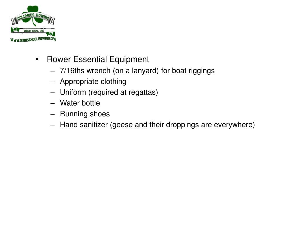 Rower Essential Equipment