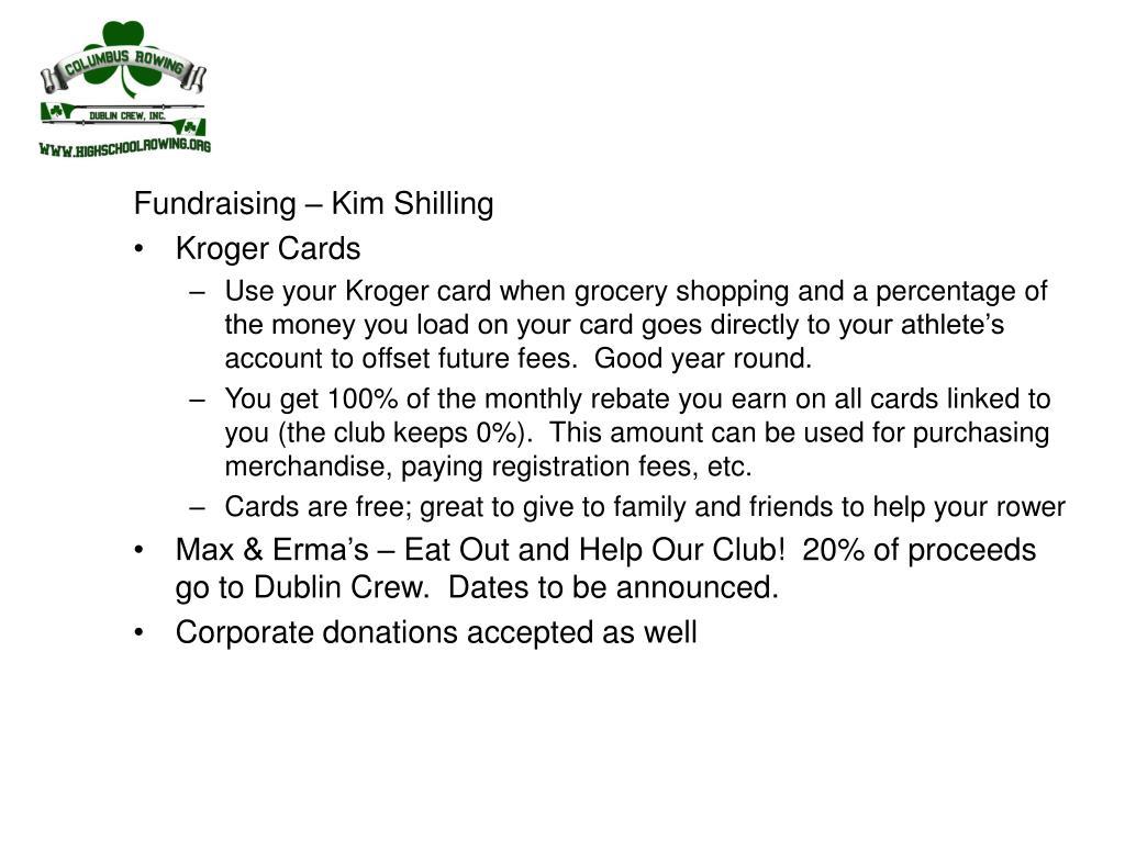 Fundraising – Kim Shilling