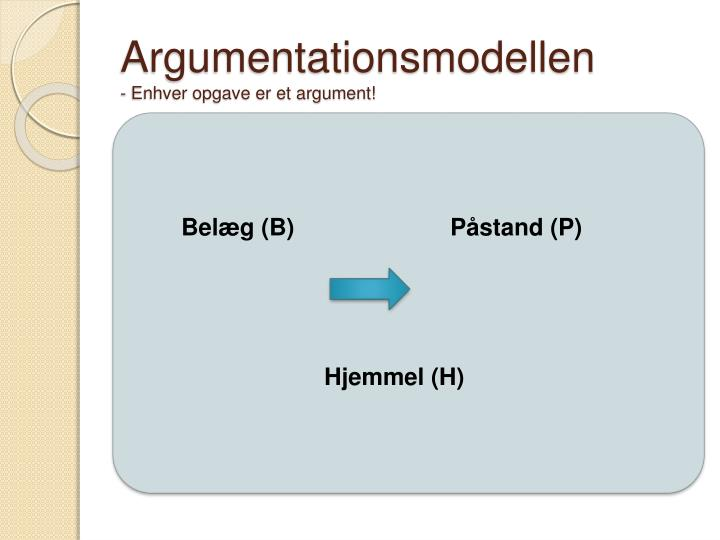 Argumentationsmodellen