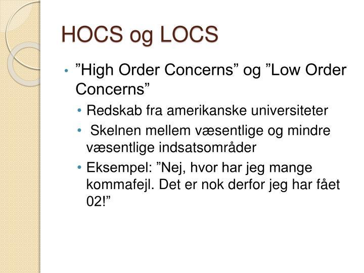 HOCS og LOCS
