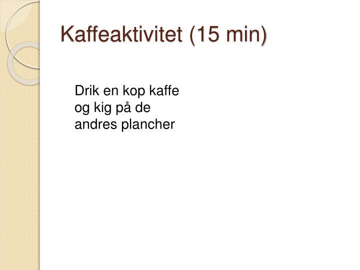 Kaffeaktivitet (15 min)