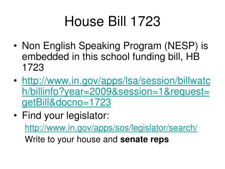 House Bill 1723