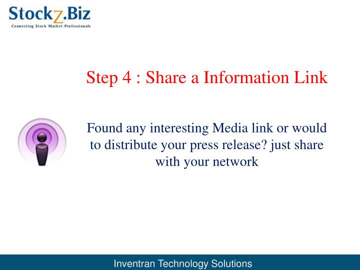 Step 4 : Share a Information Link