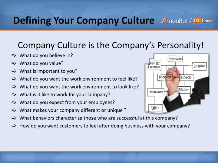 Defining Your Company Culture