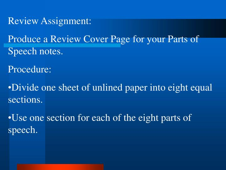 Review Assignment: