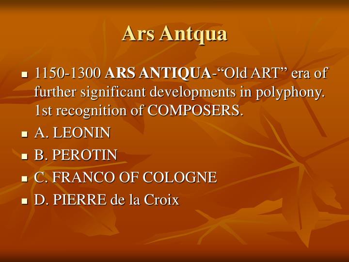 Ars Antqua