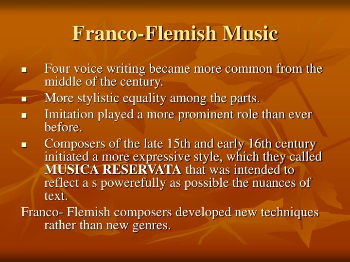 Franco-Flemish Music