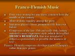 franco flemish music