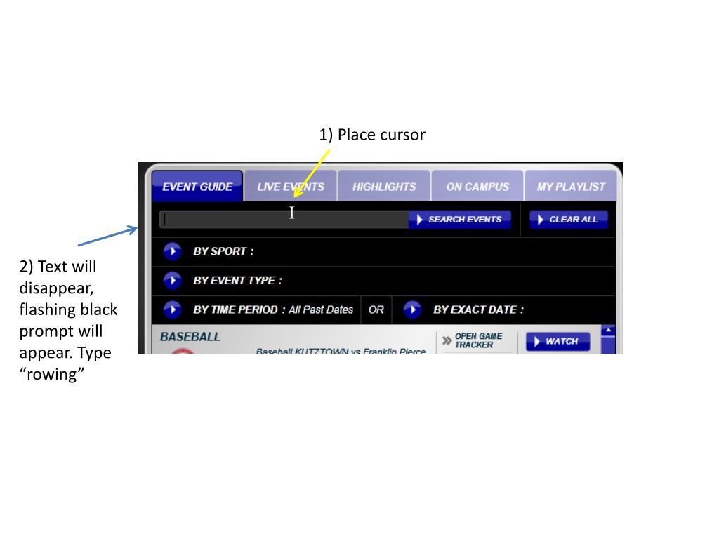 1) Place cursor