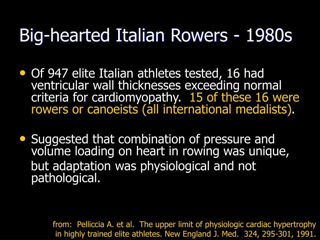 Big-hearted Italian Rowers - 1980s