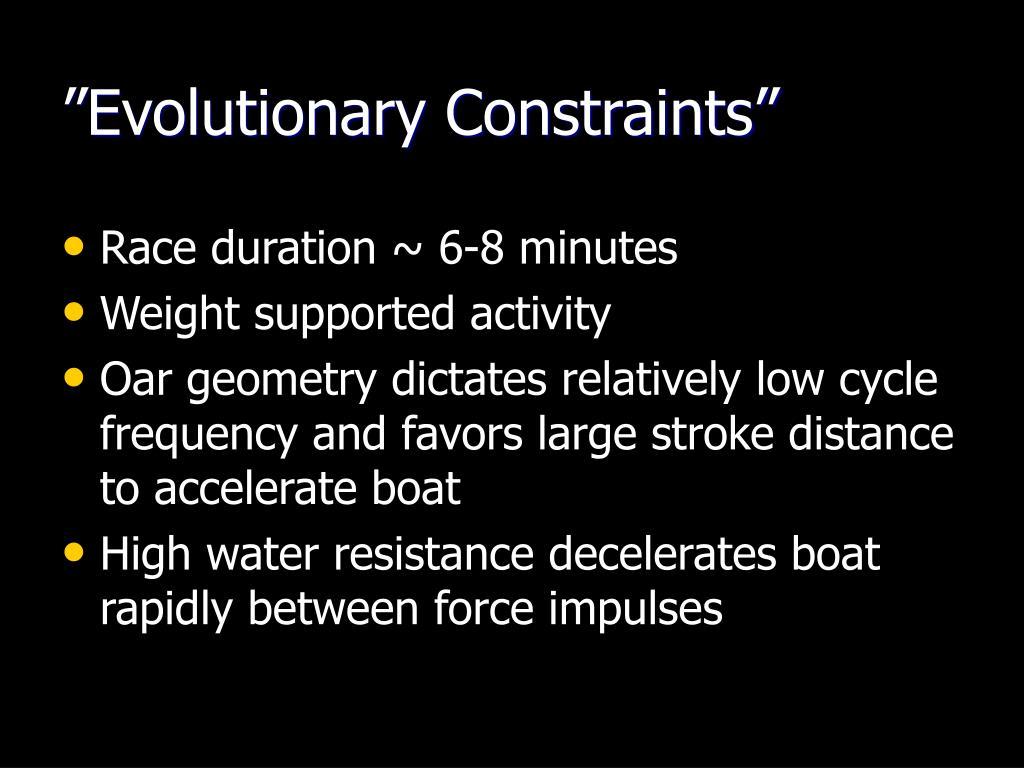 """Evolutionary Constraints"""