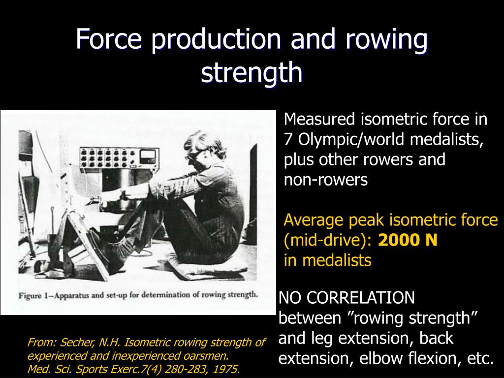 Force production and rowing strength