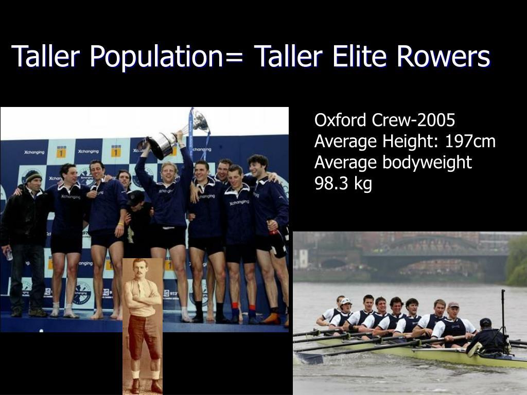 Taller Population= Taller Elite Rowers