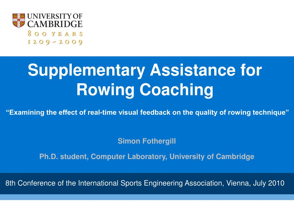 Supplementary Assistance for Rowing Coaching