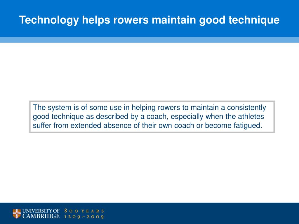 Technology helps rowers maintain good technique