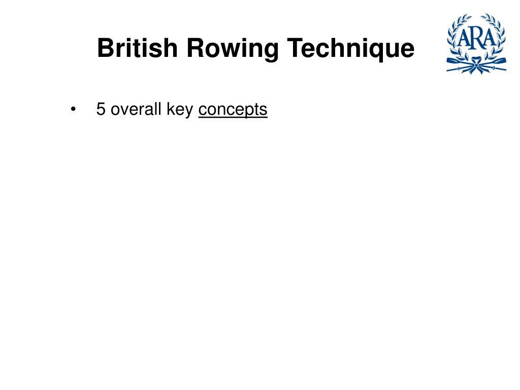 British Rowing Technique