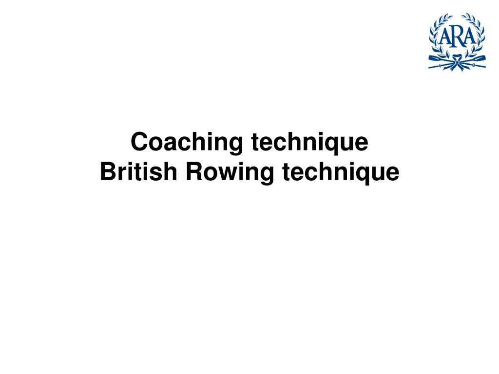 Coaching technique