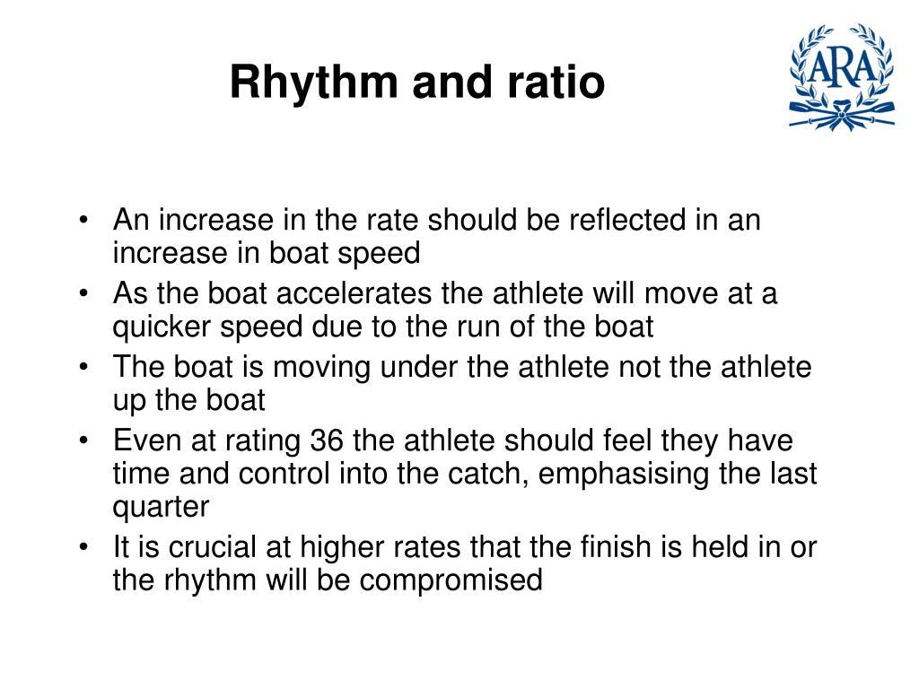 Rhythm and ratio