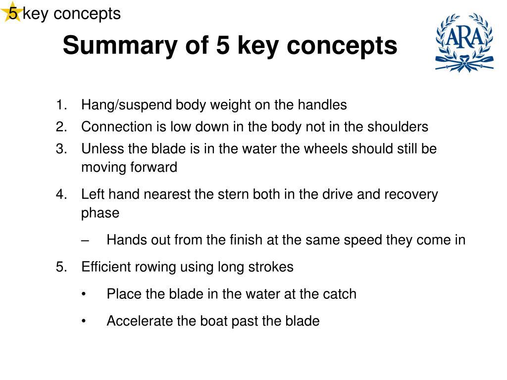5 key concepts