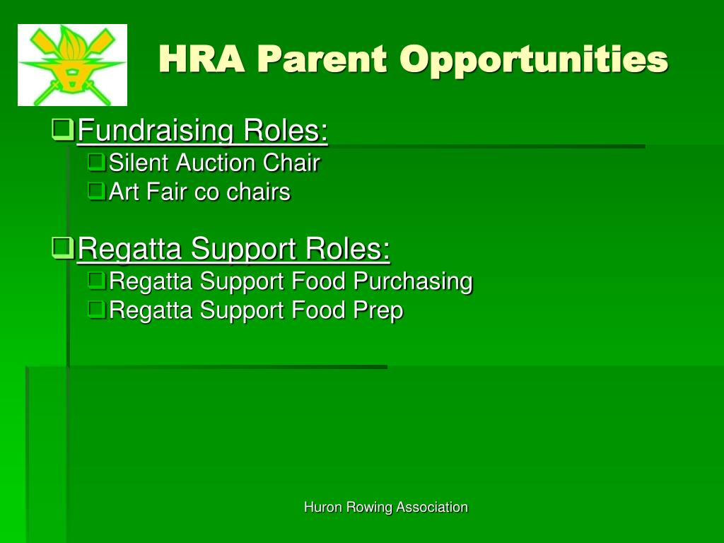 HRA Parent Opportunities