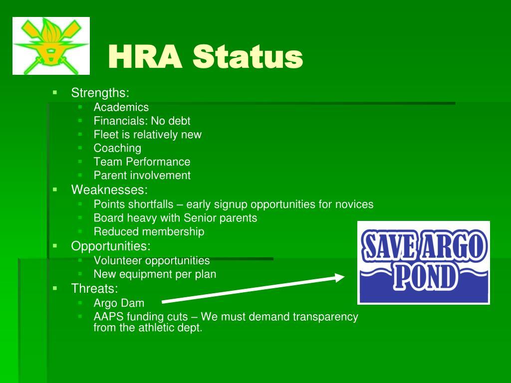 HRA Status