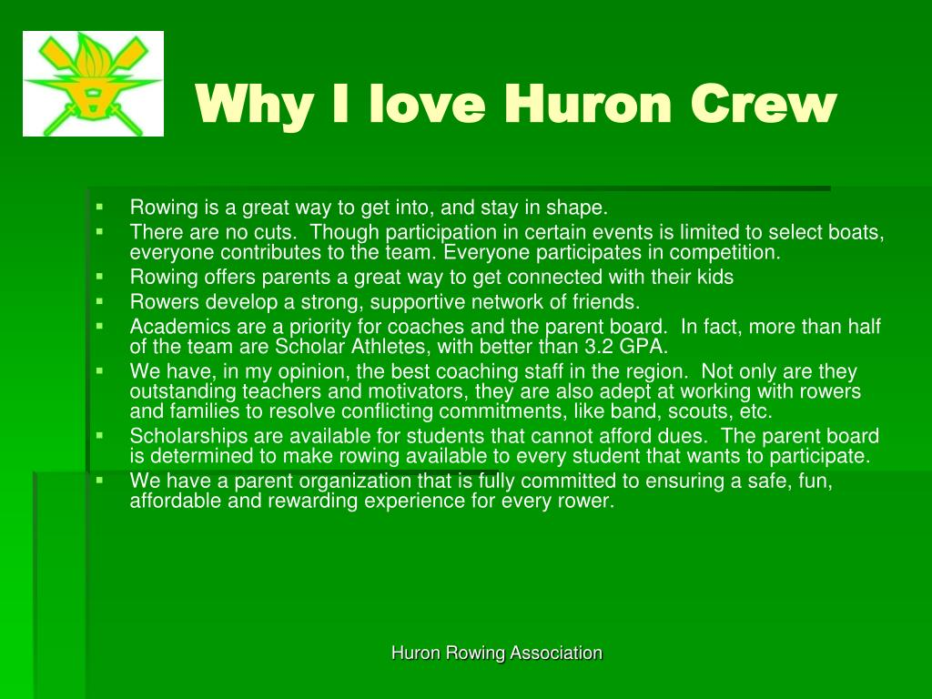 Why I love Huron Crew