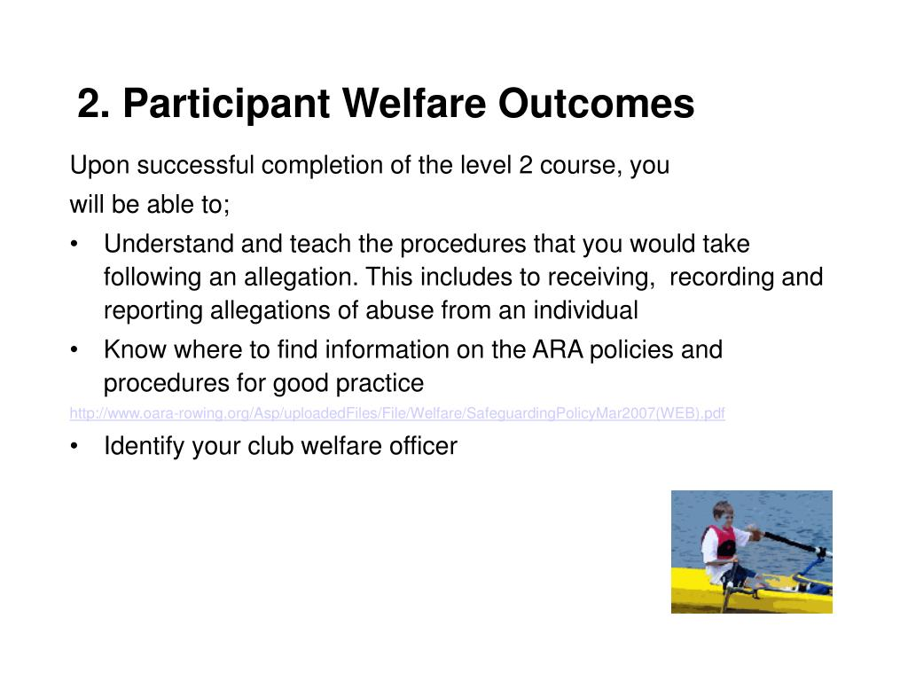 2. Participant Welfare Outcomes