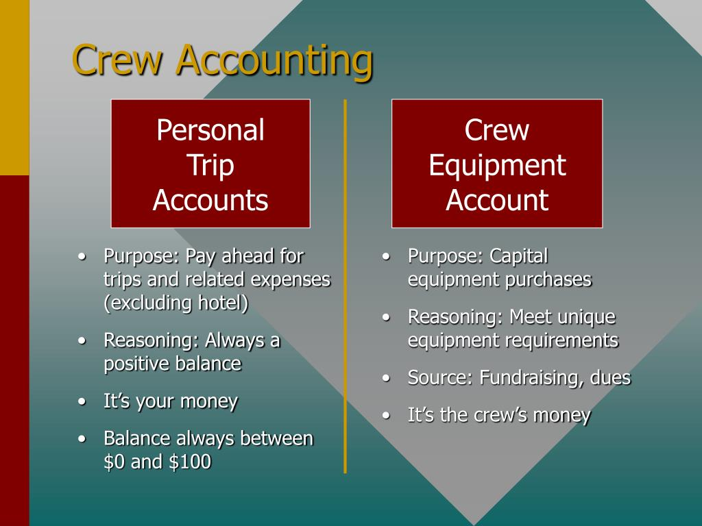 Crew Accounting