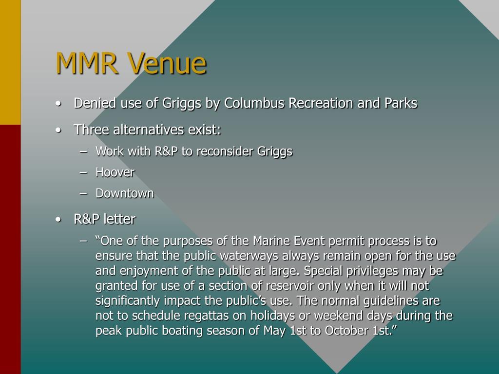 MMR Venue
