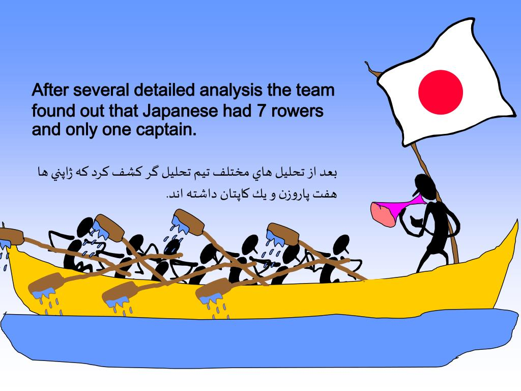 After several detailed analysis the team found out that Japanese had 7 rowers and only one captain.