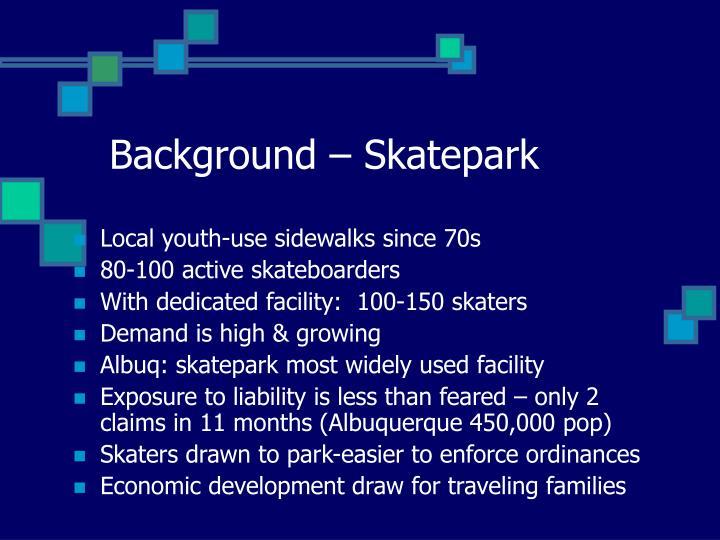 Background – Skatepark
