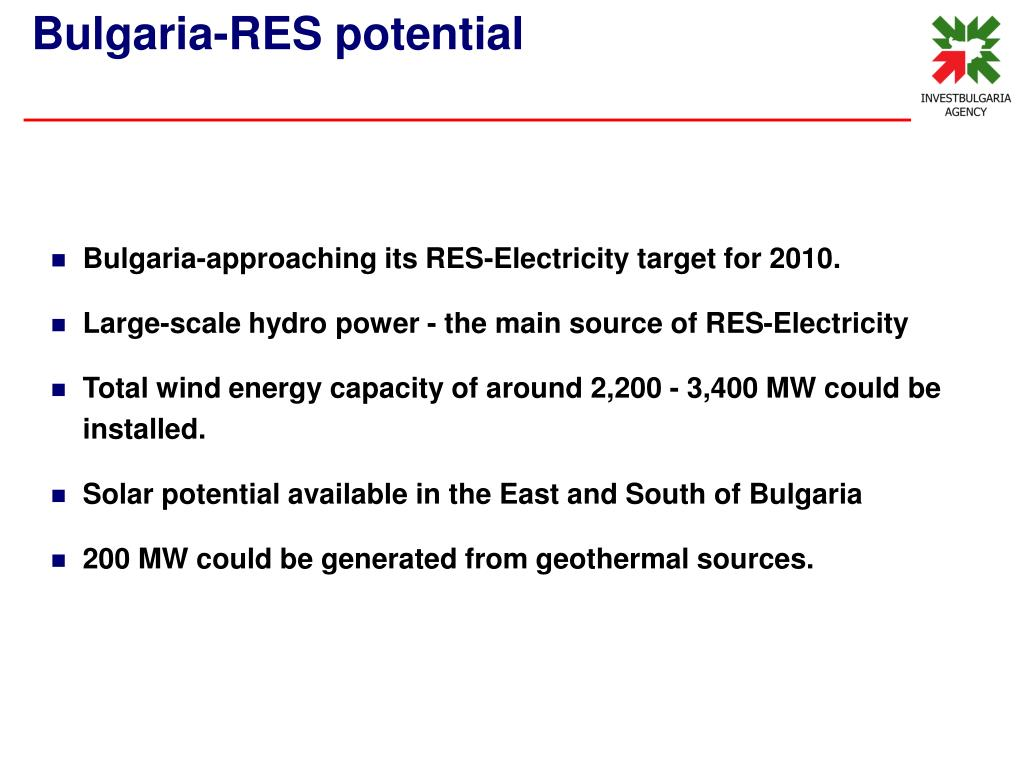 Bulgaria-approaching its RES-Electricity target for 2010.