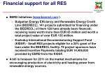 financial support for all res