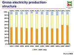 gross electricity production structure
