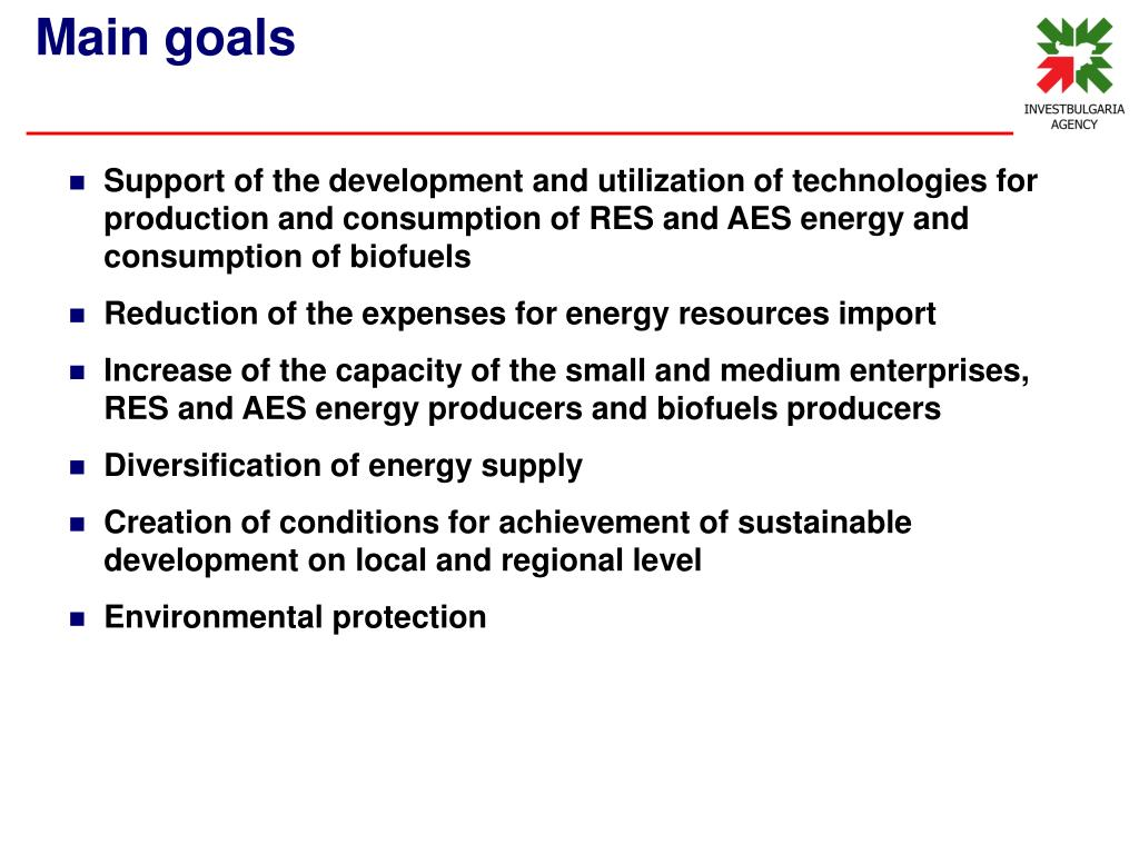 Support of the development and utilization of technologies for production and consumption of RES and AES energy and consumption of biofuels