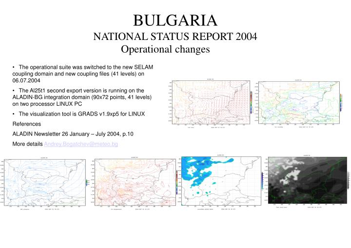 Bulgaria national status report 2004