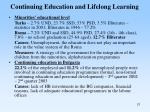 continuing education and lifelong learning