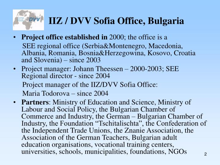 Iiz dvv sofia office bulgaria