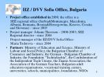 iiz dvv sofia office bulgaria