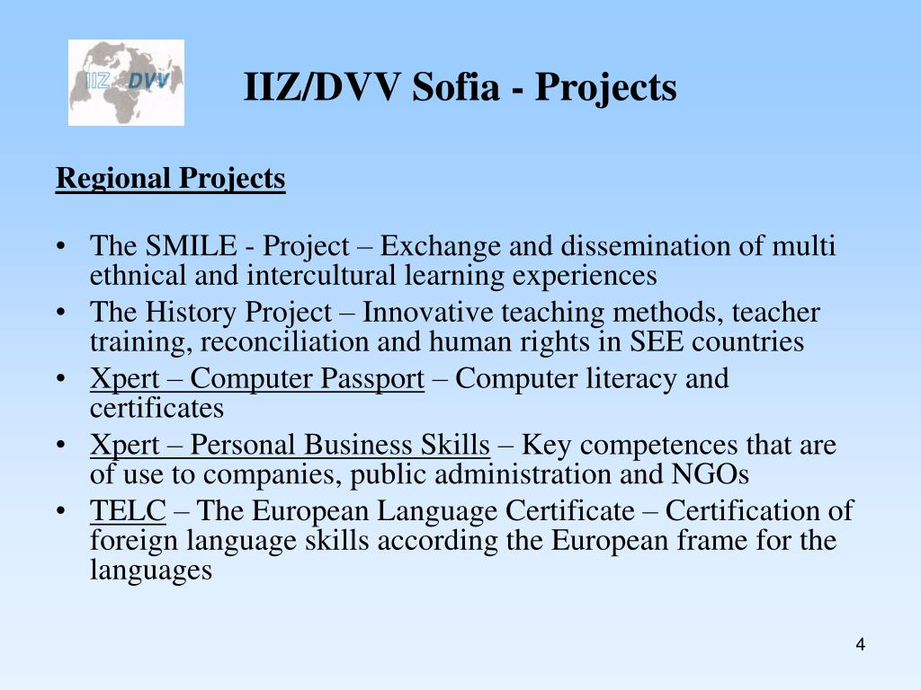 IIZ/DVV Sofia - Projects