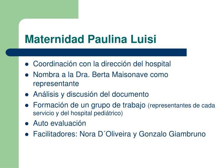 Maternidad Paulina Luisi